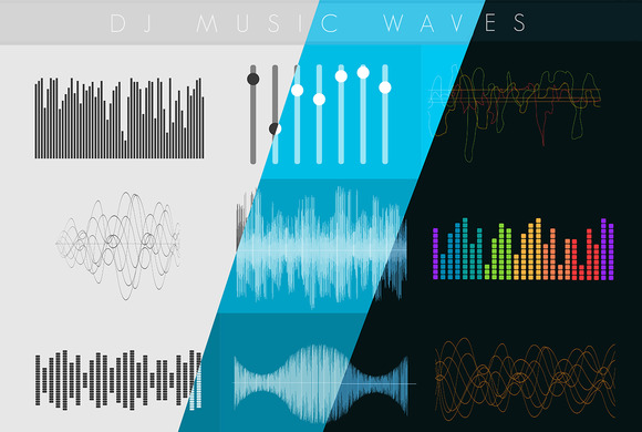 Dj Sound music waves. Musical pulse - Graphics