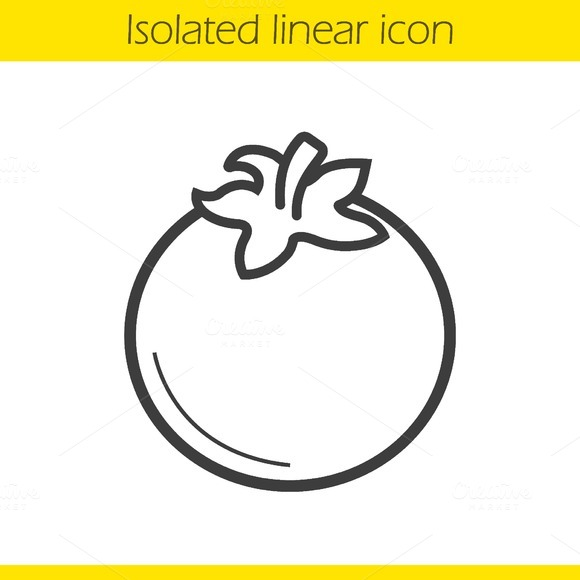 Tomato linear icon. Vector - Icons