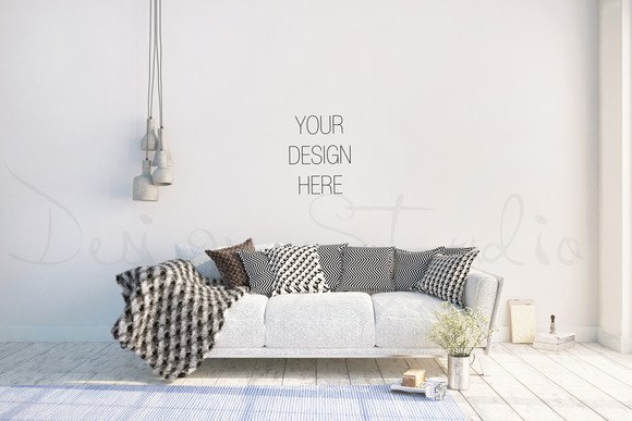 Interior Psd Living Room Photo Product Mockups On