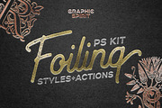 FOIL STAMP Photoshop Styles-Graphicriver中文最全的素材分享平台
