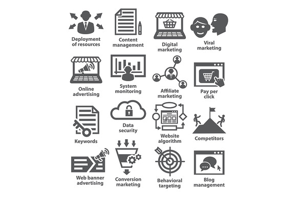 Business Management Icons Pack 24