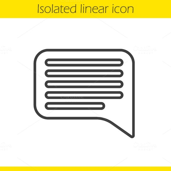 Chat bubble linear icon. Vector - Icons