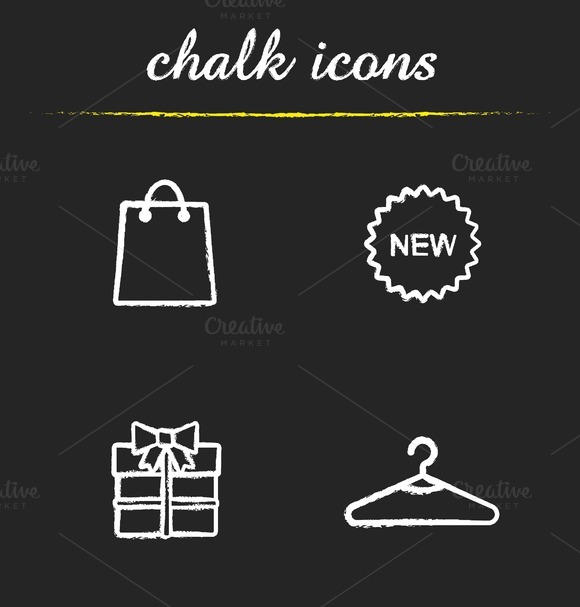Holiday shopping. 4 icons. Vector - Icons
