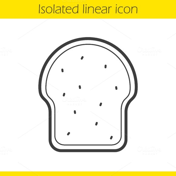 Toast linear icon. Vector - Icons