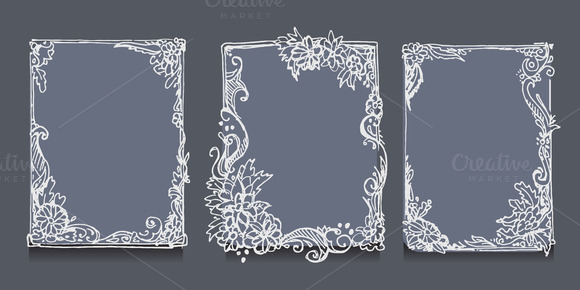 Hand drawn frame. Vector - Illustrations