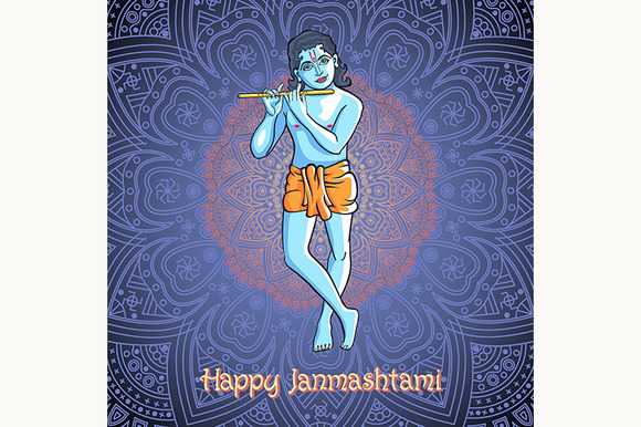 Lord Krishna. Happy Janmashtami - Graphics