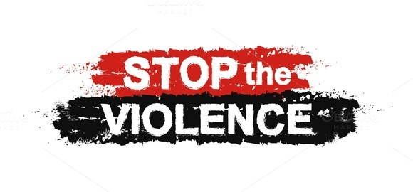 Stop the violence sign. Vector - Illustrations