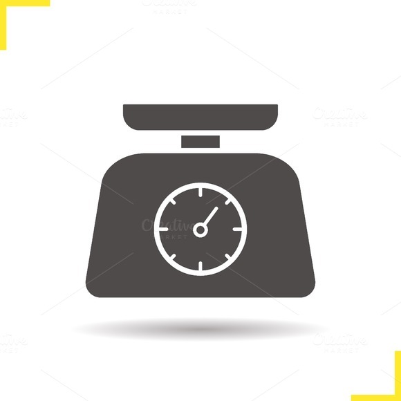 Kitchen food scales icon. Vector - Icons