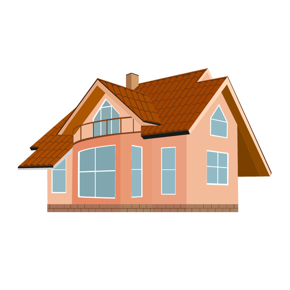 Home House Brown Roof Vector