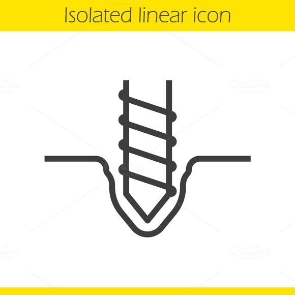 Drilling linear icon. Vector - Icons