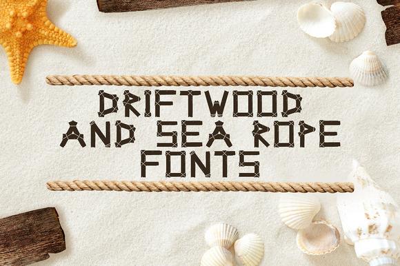 Driftwood Sea Rope Fonts