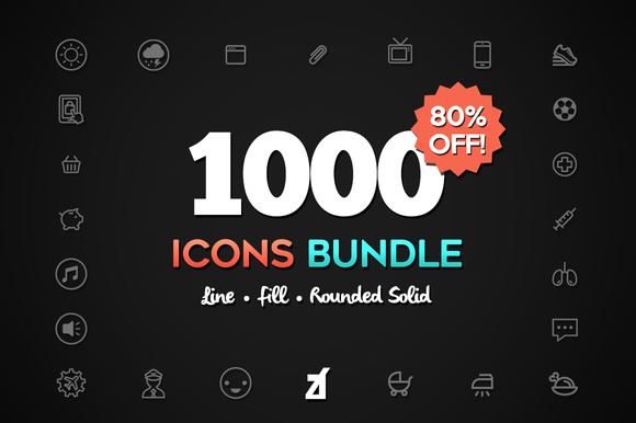 1000 icons bundle - Saving pack!! - Icons