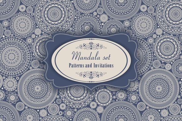 Mandala Set. Pattern and Invitation. - Patterns