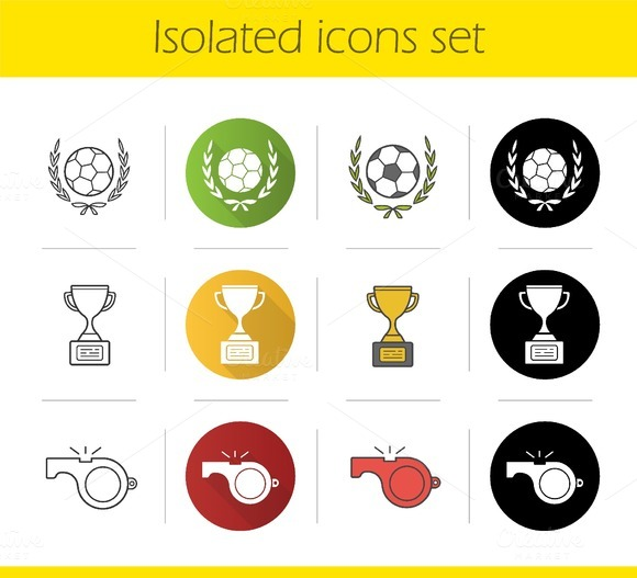 Soccer championship 12 icons. Vector - Icons