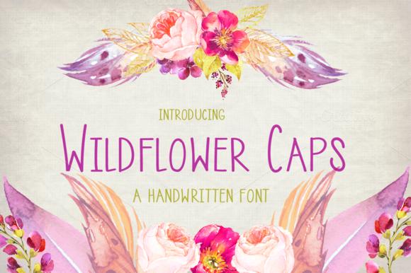 Wildflower Caps- Handwritten Font