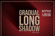 Gradual Long Shadow AI styl-Graphicriver中文最全的素材分享平台