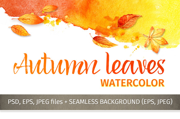 Autumn leaves. Watercolor - Illustrations