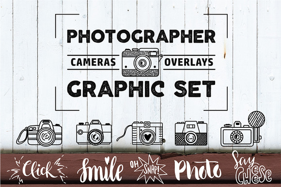 PHOTOGRAPHER. Cameras&Overlays Set - Graphics