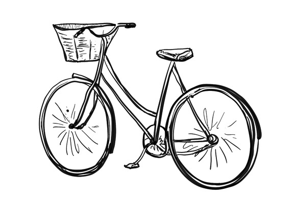 Bicycle sketch. Sport poster - Illustrations