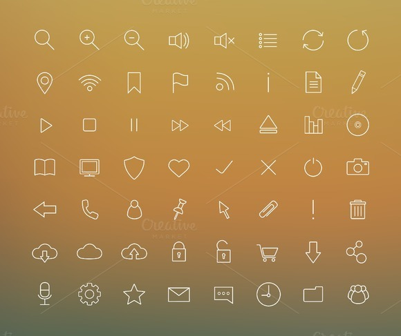 Digital. 56 icons. Vector - Icons