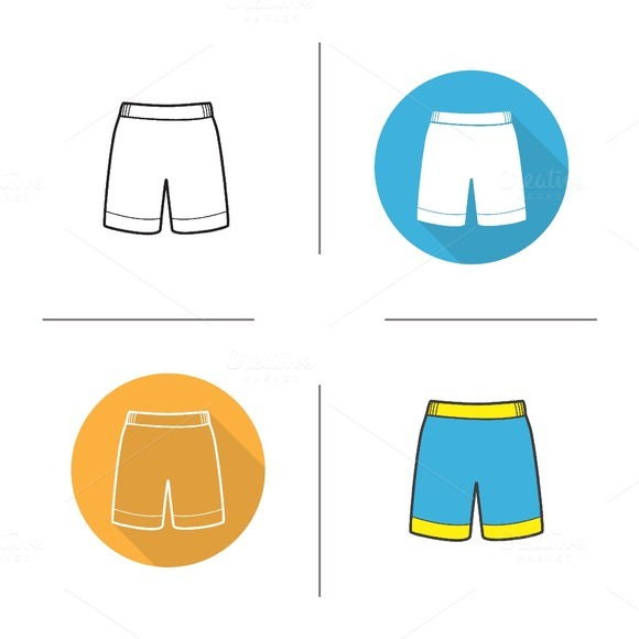 Shorts. 4 icons. Vector - Icons