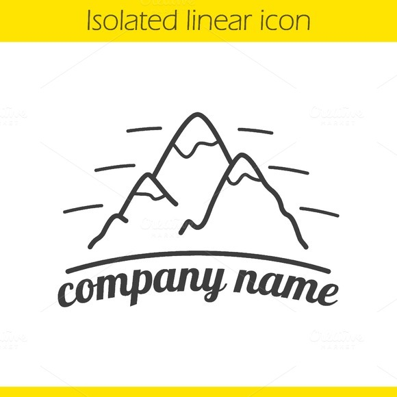 Mountains linear icon. Vector - Icons