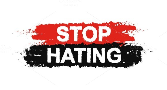 Stop hating grunge sign. Vector - Illustrations