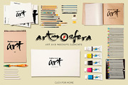 Art Equipments and Art Mock-Graphicriver中文最全的素材分享平台