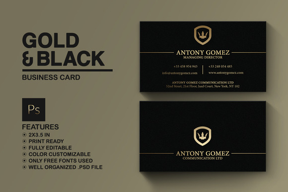 Simple gold and black business card 792740 heroturko download simple gold and black business card business cards reheart Choice Image