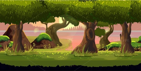 2d Game Background Illustrations On Creative Market