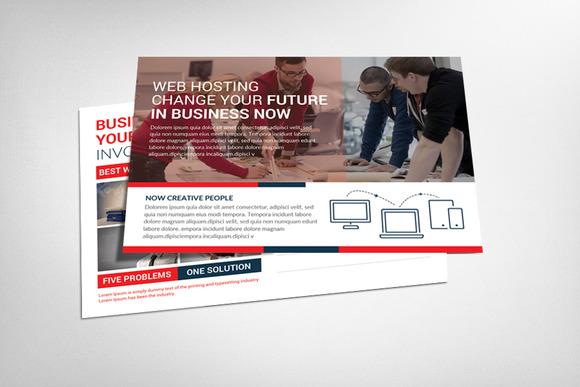 Web Hosting Business Postcard