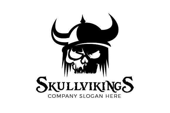 Viking Skull Logo