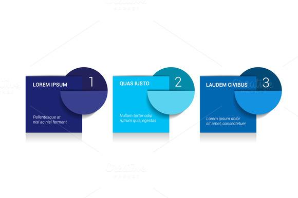 3 Steps Arrow Tutorial Chart