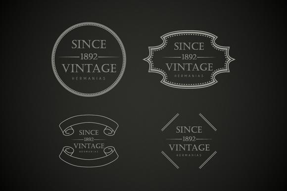Vintage Logo Graphics Badges