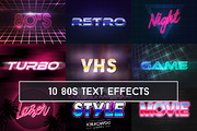 80's Retro Text Effect Moc-Graphicriver中文最全的素材分享平台