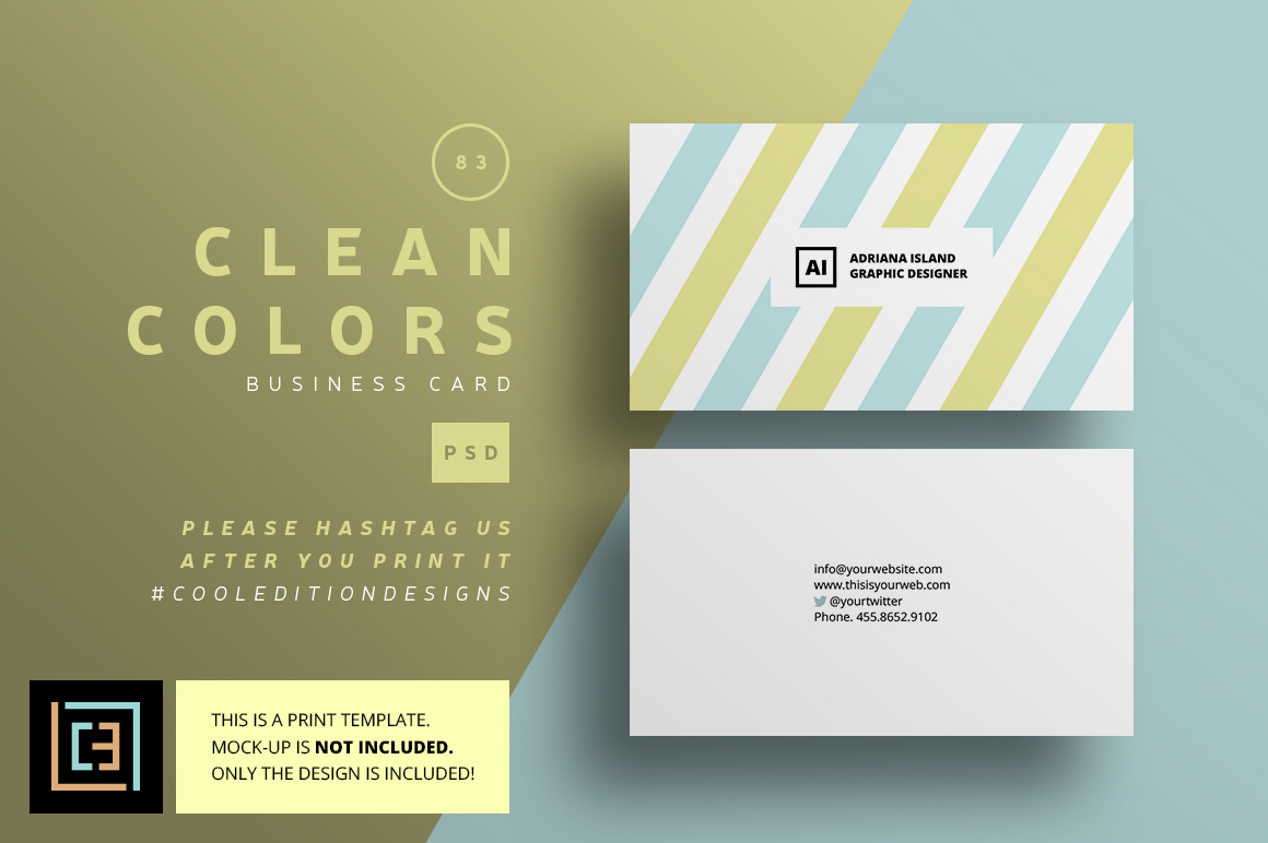 Clean colors business card 83 business card templates for Business card colors