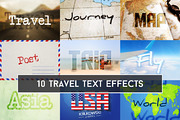 Travel Text Effects Mockup-Graphicriver中文最全的素材分享平台