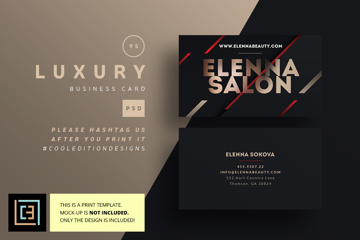 Luxury Business Card 95 Business Card Templates on