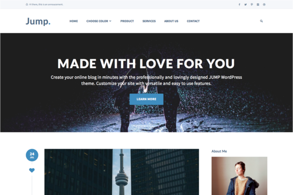 Jump - Blog WordPress Theme - Blog