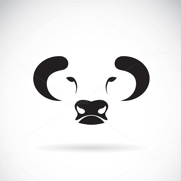 Vector Of Bull Face Design