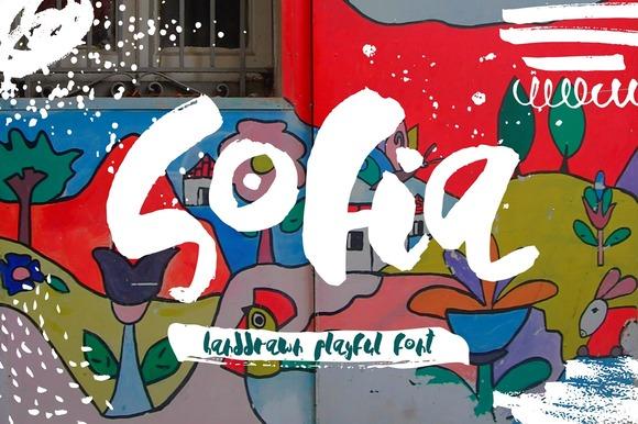 Sofia - Handdrawn Playful Font - Script
