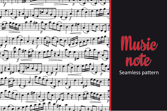 Note. Sheet music. Seamless pattern - Textures