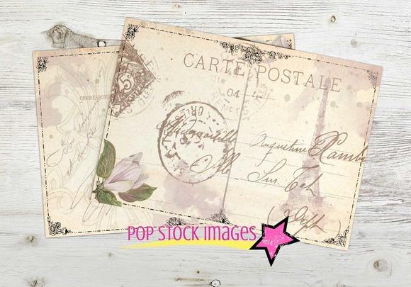 Digital Printable Magnolia Postcards