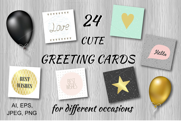 Hand drawn greeting cards.Vector - Textures