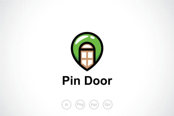 Map Pin Door Logo Template