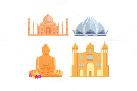 Set Indian Architectural Landmarks