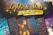 Lights &  Stars Clipart + B-Graphicriver中文最全的素材分享平台