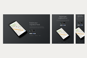 Droider - Android app website PSD