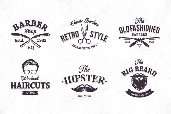 Barber Font : Barber Shop Emblems ~ Illustrations on Creative Market