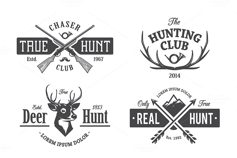 Vintage Hunting Emblems ~ Illustrations on Creative Market